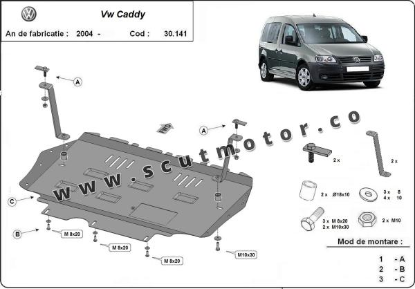 Scut motor  VW Caddy 1